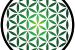 flower of life image in green